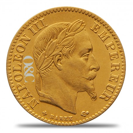 10 Francs Or Napoléon III Avers