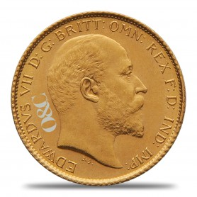 Demi-Souverain Or Edouard VII Avers