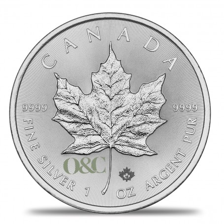 Once Argent Maple Leaf Revers