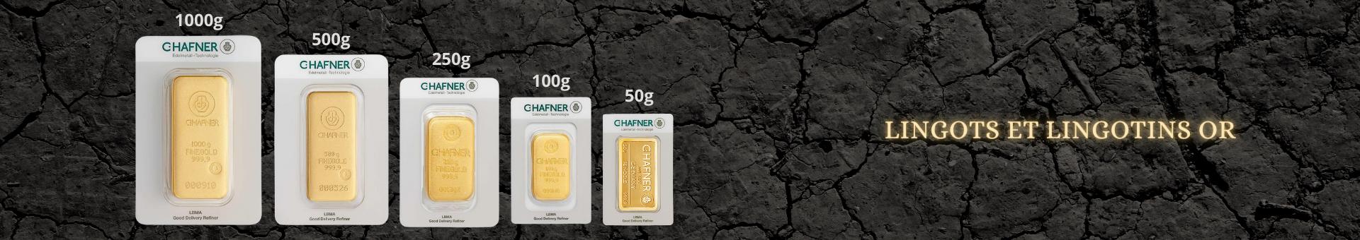 Achetez de l'or international et lingotins et onces avec Or & Change