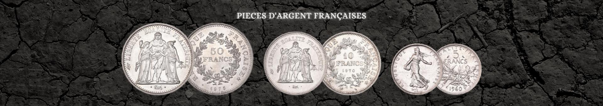 Achetez des pièces d'argent françaises avec Or & Change