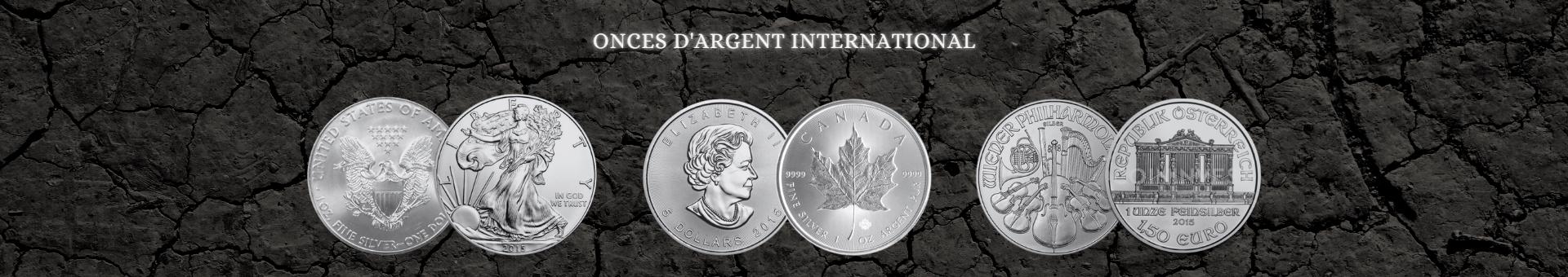 Achetez des pièces d'argent internationales avec Or & Change