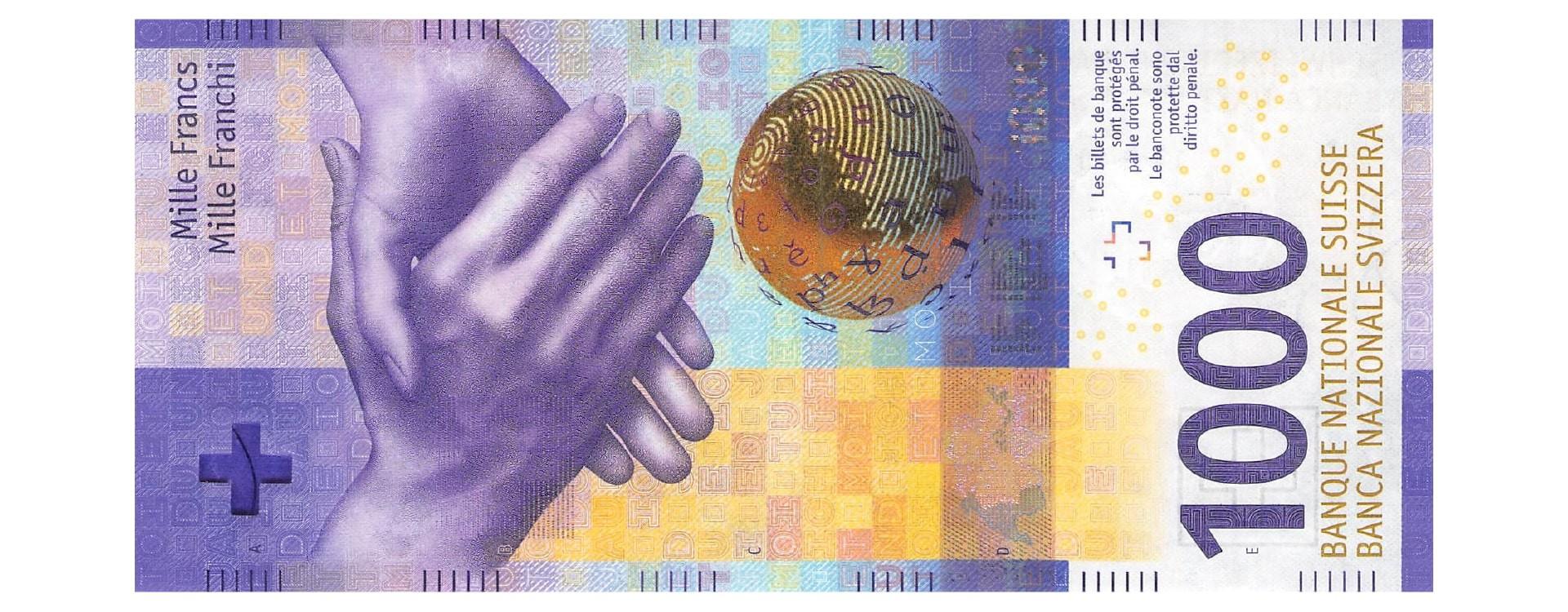 Le nouveau billet de 1000 francs suisse